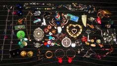 Antique/Vintage Mixed Junk Drawer Lot.. Jewelry, Repair, Pieces Parts CHEAP SHIP #mixed