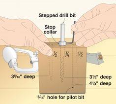 Pocket-size gauge for setting pocket-hole bits