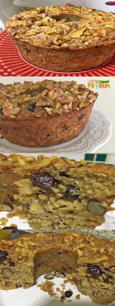 Banana Cake with Oats and Chestnuts cake. Quick Recipes, Sweet Recipes, Cake Recipes, Chestnut Recipes, Vegan Recepies, Food Cakes, Health And Nutrition, Health Tips, Amazing Cakes