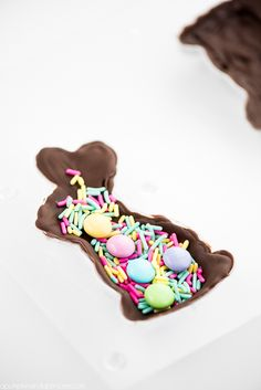 What's better than the classic chocolate bunny at Easter time? Your own Homemade Chocolate Bunny with a candy surprise inside! Now that's a dessert I can get behind. Homemade Desserts, Dessert Recipes, Easter Cocktails, Chocolate Easter Bunny, About Easter, Homemade Chocolate, Chocolate Chocolate, Easter Recipes, Easter Ideas