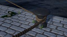 A scene inspired by Blenderguru's rope tutorial #blender #b3d