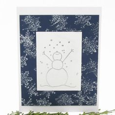 Embossed Let It Snow Card- Get into the holiday spirit with this fun holiday card design; plus, you are able to let it snow from the comfort and warmth of your own home.