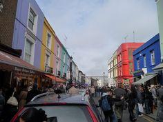 Chaotic Portobello Road on a Sunday morning #London
