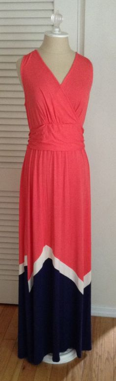 Stitch Fix Review - August 2014 Color Block Maxi - I like the neckline and how the whole dress is not one color