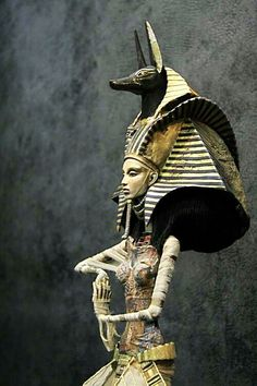 Ancient Egypt. Anubis, jackal-headed god with mummification and the afterlife in ancient Egyptian religion. One of his prominent roles was to usher souls into the afterlife.