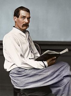Sir Richard Francis Burton - 1864. Explorer, translator, spy, orientalist..... Colorization from black and white