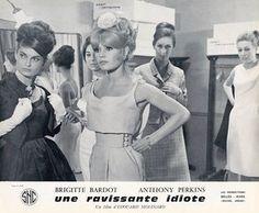 Brigitte Bardot on the set of A Ravishing Idiot
