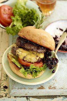 Klein Karoo Ostrich Burger - Nothing like a good braai outside!