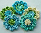 flores de crochet y motivos