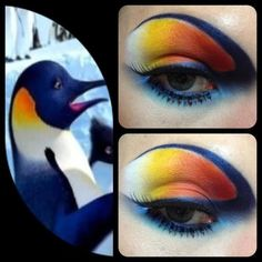 penguin makeup Batman Danny Devito is part of Batman Returns Creating The Penguin Makeup For Danny Devito - Adorable Happy Feet inspired look by Shea, using Sugarpill Heart Breaker palette and Tako Funny Bird Pictures, Penguin Costume, Leopard Makeup, Sugarpill Cosmetics, Look Into My Eyes, Makeup Designs, Makeup Inspiration, Makeup Ideas, Makeup Inspo