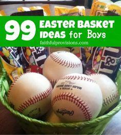 Easter Basket Ideas for Boys - Faithful Provisions 99 Easter Basket Ideas for Boys Hoppy Easter, Easter Gift, Easter Bunny, Easter Eggs, Easter Food, Easter Treats, Boys Easter Basket, Easter Baskets, Gift Baskets