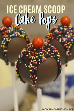 Can't seem to ever resist chocolate with sprinkles on top? Learn how to make this Ice Cream Scoop Cake Pops and stop denying yourself this wonderful summer treat!