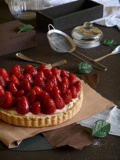 RECELANDIA: Tartaleta de fresas con crema de vainilla