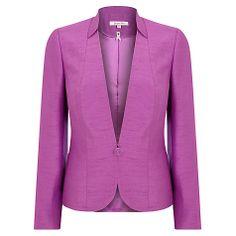 Buy Jacques Vert Occasion Jacket, Iris Online at johnlewis.com