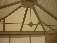 Conservatory pleated roof blinds in Carnival cocoa. #Wrexham #blinds from http://www.pandablinds.co.uk/Wrexham-blinds.html