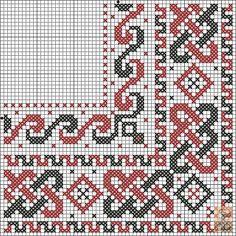 Dažādi raksti rūtiņu tehnikā - Rokdarbu grāmatas un dažādas shēmas Celtic Cross Stitch, Cute Cross Stitch, Cross Stitch Borders, Cross Stitch Designs, Cross Stitching, Cross Stitch Embroidery, Hand Embroidery, Loom Patterns, Embroidery Patterns