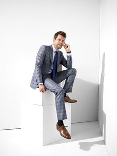 Power Suit: two-button wool-and-silk suit by Giorgio #Armani