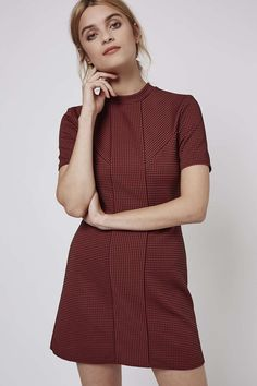 PETITE Textured Spot Dress - Topshop