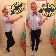 Halloween costumes for nursing students. Halloween costumes for nursing students. Rosie the Riveter Diy Costume. Halloween costumes for nurses. Halloween is coming and that means costume parties. It's a fun time of the year to be Nurse Halloween Costume, 50s Costume, Hallowen Costume, Diy Costumes, Halloween Party, Costume Parties, Costume Ideas, Nerd Costumes, Vampire Costumes