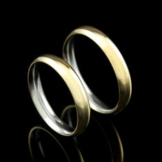 Aliança Steel Gold Eterni Bold P (unidade) - Alianças de Compromisso - Prata Fina - Joias em Prata