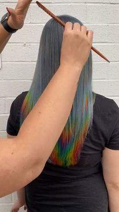 Cool Hair Color, Hair Colors, Pretty Hairstyles, Girl Hairstyles, Great Hair, Hair Today, Asmr, Hair Dos, Hair Designs