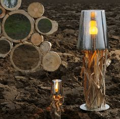 Impressive driftwood lamps from Bleu Nature with a rustic flair -  Bleu Nature is a French company founded in 1995 by Frank Lefebvre.