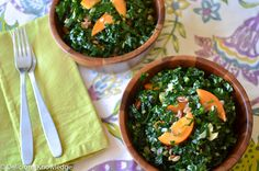 WINTER KALE SALAD WITH PRESERVED LEMONS & PERSIMMONS