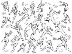 Super Ideas For Drawing Reference Fighting Action Poses Action Pose Reference, Figure Drawing Reference, Art Reference Poses, Action Poses, Photo Reference, Design Reference, Body Sketches, Drawing Sketches, Drawings