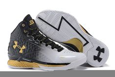 f2c621c4b5f1 Free Shipping Only 69  Under Armour UA Curry One 1 MVP Black White Metallic  Gold