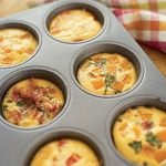 fritatta. Could replace the cream With skim milk or even almond milk. Great on the go home made breakfast idea