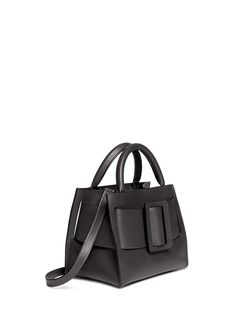 BOYY - 'Small Bobby' buckle belt leather tote | Grey Top Handles | Womenswear | Lane Crawford - Shop Designer Brands Online