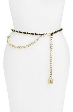 Tory Burch Leather & Chain Belt available at #Nordstrom