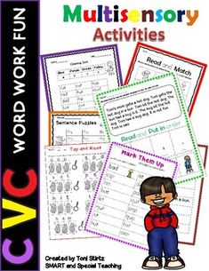 This Fundations® aligned level 1 Unit 2 pack of over 70 pages will give your students practice with The CVC word type. These Activities are aligned with Fundations level 1 but are suitable to supplement any Orton-Gillingham Curriculum such as Barton Reading, S.P.I.R.E. and Wilson Reading and Fundati... Nonsense Words, Cvc Words, Dyslexia Activities, Cvc Worksheets, Wilson Reading, Gillingham, Fun At Work, Word Work, Teaching Reading