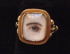 Georgian Mournng Ring: Lovers Eye, c1870