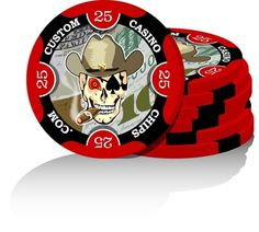 """Picture, the best prices you'll find on truly custom made poker chips! add class and style to your """"Vegas Night,"""" poker club, business, or special event with our custom poker chips  #customcasionchips #custompokerchips #clubgamingchips"""