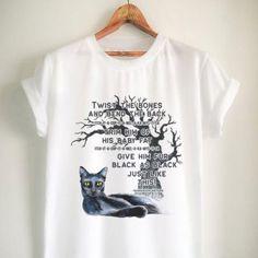 Halloween Shirt - Hocus Pocus Sanderson Spell - Witch Black cat - Thackery Binx