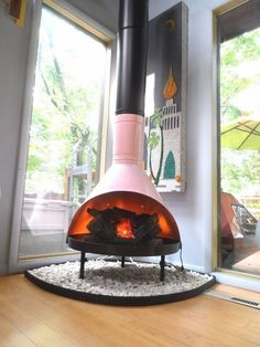 Malm fireplace – a touch of fabulous retro chic indoors and outdoors