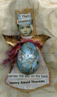 Bluebird Altered Books, Altered Art, Artful Dodger, Tweet Tweet, Sweet Cookies, Altered Images, Mixed Media Artwork, Altered Bottles, Swallows