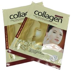 Collagen Essence Full Face Facial Mask Sheet  for Moisturizing Brightening and Whitening Skin Care Mask 30ml/ 1PCS