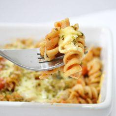 Fusilli Integrali filanti alla mozzarella / Wholewheat Fusilli with mozzarella cheese