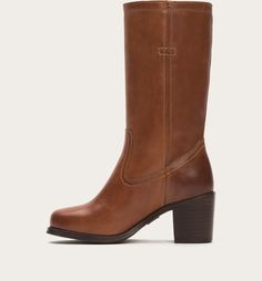63dc69d6417 FRYE | Kendall Pull On - Cognac Leather Boots, Kendall, Leather Booties, Ken