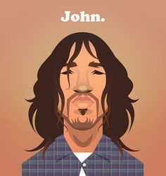 John Frusciante - Guitar God on Pantone Canvas Gallery