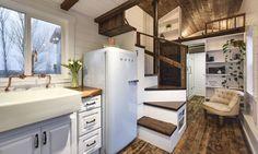 Retro Refrigerator - Custom Tiny #4 by Mint Tiny Homes