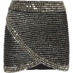 Parker Sabrina black beaded wrap effect skirt (27,685 INR) ❤ liked on Polyvore featuring skirts, bottoms, faldas, wrap around skirt, parker skirt, wrap skirts, wraparound skirt and beaded skirt