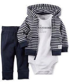 Carter's Baby Boys' 3-Piece Hoodie, Bodysuit & Pants Set - Kids & Baby - Macy's