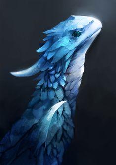 blue dragon by KORHIPER