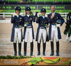 The USA dressage team took bronze in team completion at the 2016 Olympics!