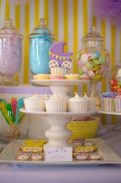 Treats at a Pastel Baby Shower #pastel #babyshower