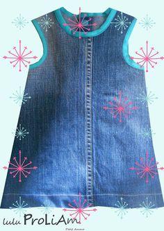 Robe trapèze, chasuble Bébé ☺Happy☺ 3 mois, robe tendance et moderne : Mode Bébé par lulu-proliam