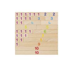 Jeu des réglettes de calcul, type Montessori